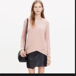 Madewell Pullover Sweater Waffle Blush Pink XS
